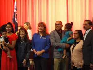 Janelle with new Australian Citizens
