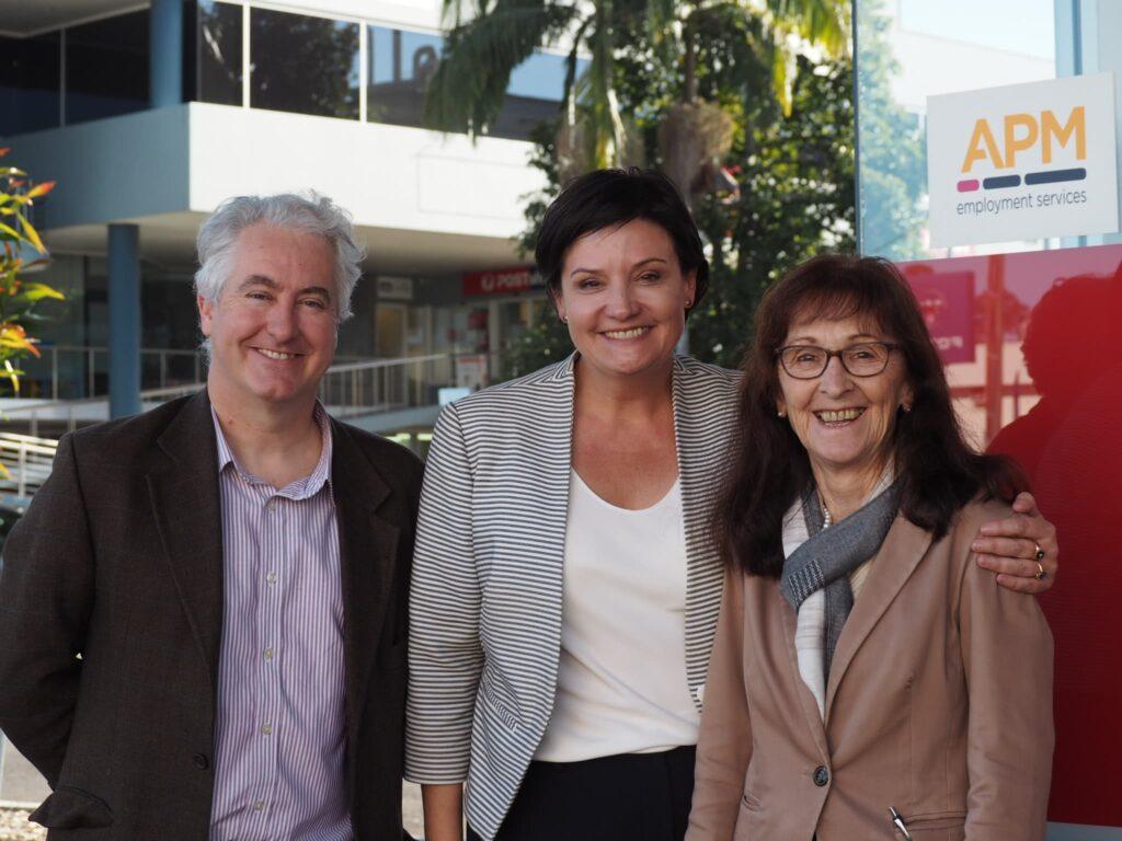Janelle Saffin hosts Labor leader Jodi McKay in Lismore